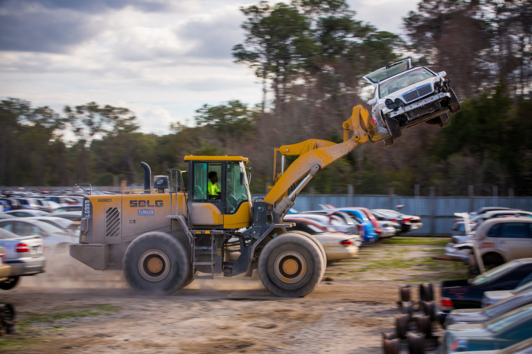Jacksonville Auto Salvage >> Florida's Ace Pick-A-Part runs a fleet of SDLG frontend loaders for auto salvage and recycling ...